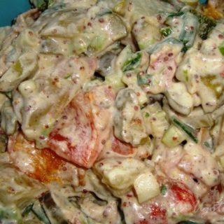 Sałatka z młodych ziemniaków z grillowaną papryką