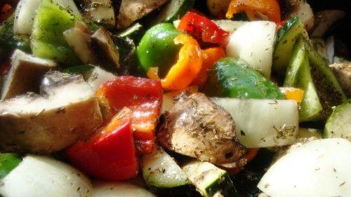 Sałatka z grilowanych warzyw