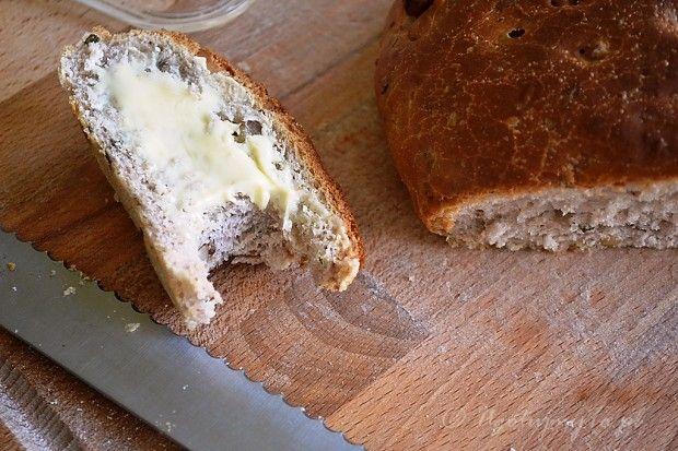 Chleb z orzechami i rozmarynem