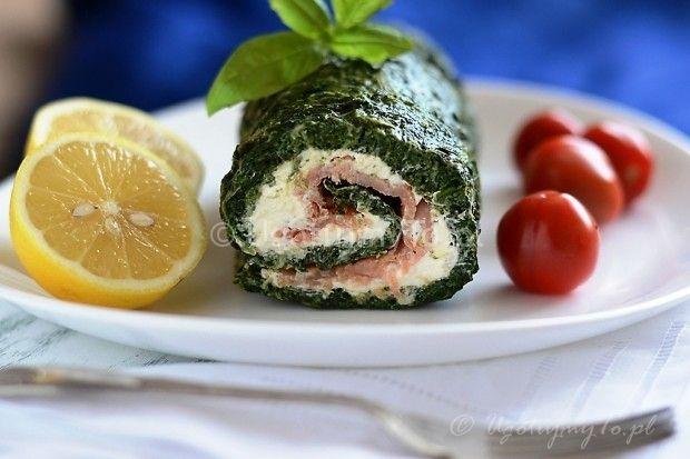 Rolada szpinakowa z lososiem