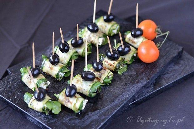 Roladki z serem i cukinia