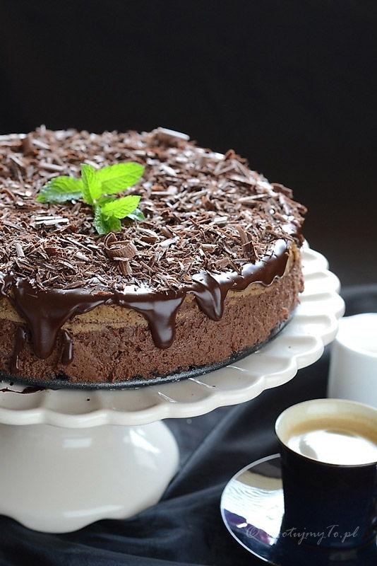 Sernik czekoladowo-kawowy