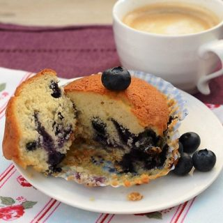 Muffinki jagodowe (borówkowe)