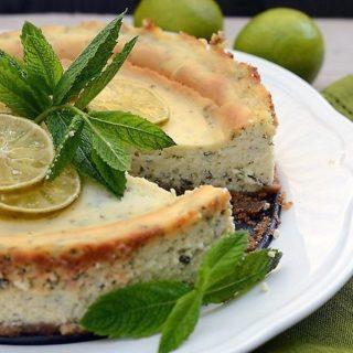 Sernik limonkowo-miętowy mojito