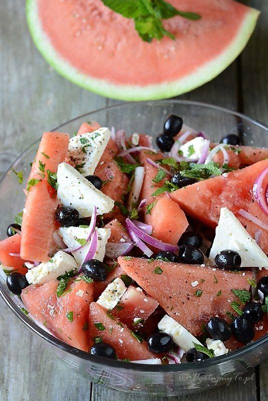 Salatka z arbuzem i feta