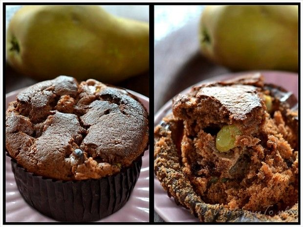 Muffinki gruszkowo czekoladowe