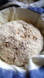 chleb z karmelizowanym porem i pestkami