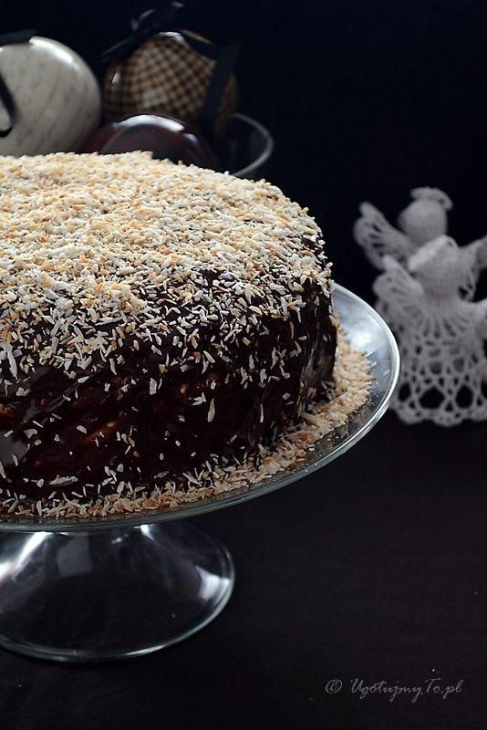 Ciasto czekoladowe z masa kokosowa