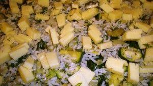 przygotowanie zapiekanki z ryzu
