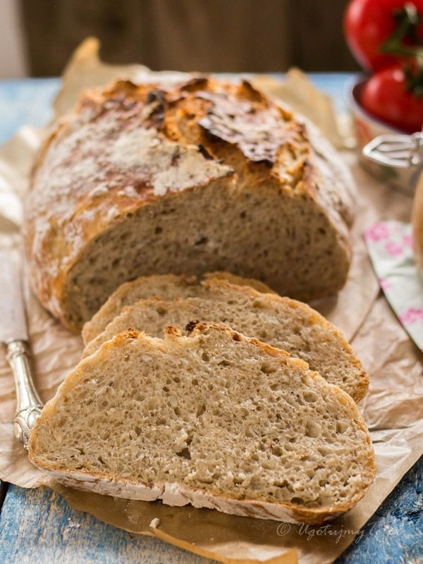 Chleb z platkami owsianymi