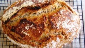 Przygotowanie chleba z platkami