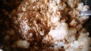 Przygotowanie murzynka kokosowego z wisniami