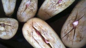 Przygotowanie baklazana faszerowanego